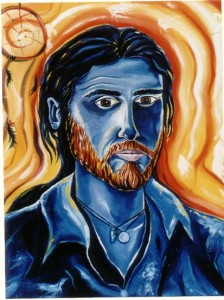 Self potrait in blue