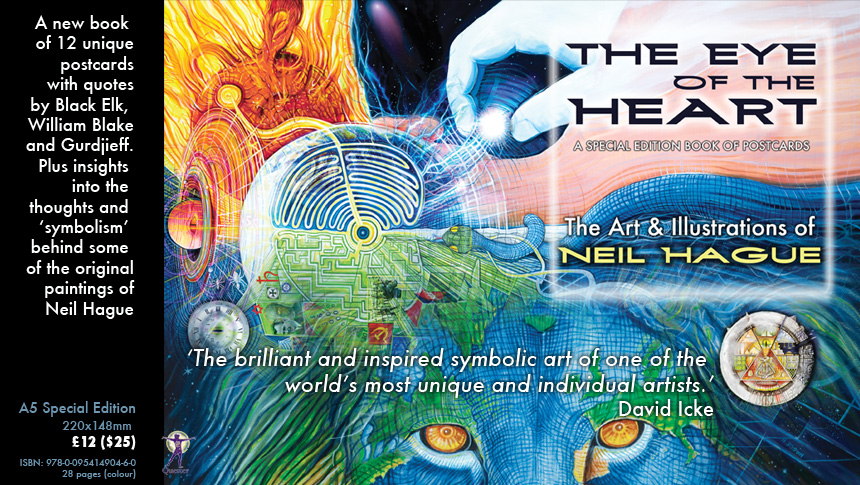 Eye Of The Heart Book Of Art Postcards Signed By Neil Neil Hague