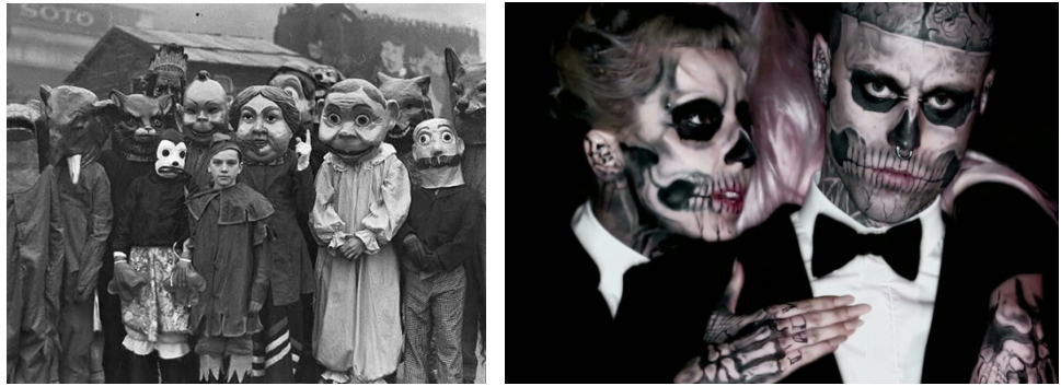 Gaga and skull heads