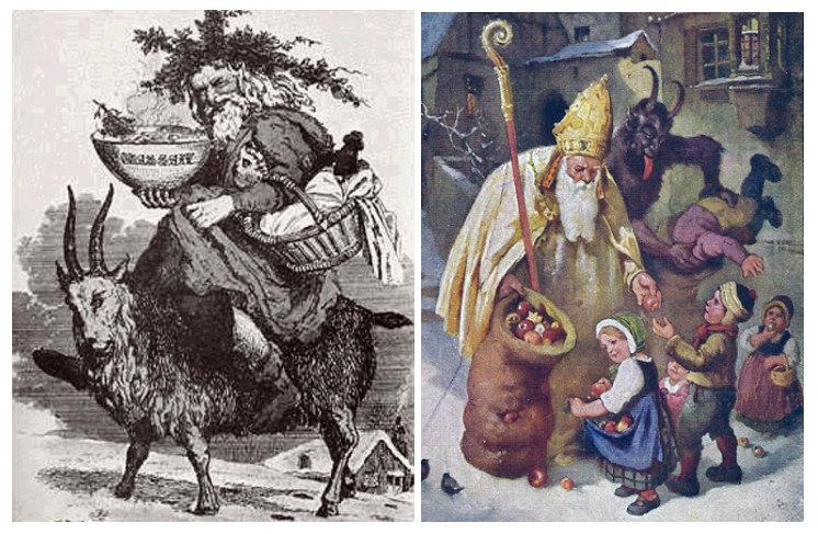 Krampus & St Nick (your kids)