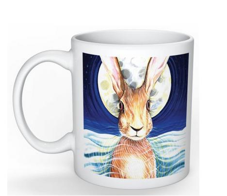Hare mug front