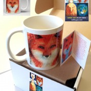 single mug in box with card