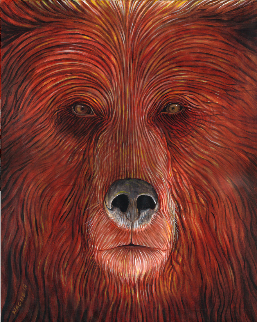 Brown Bear spirit face