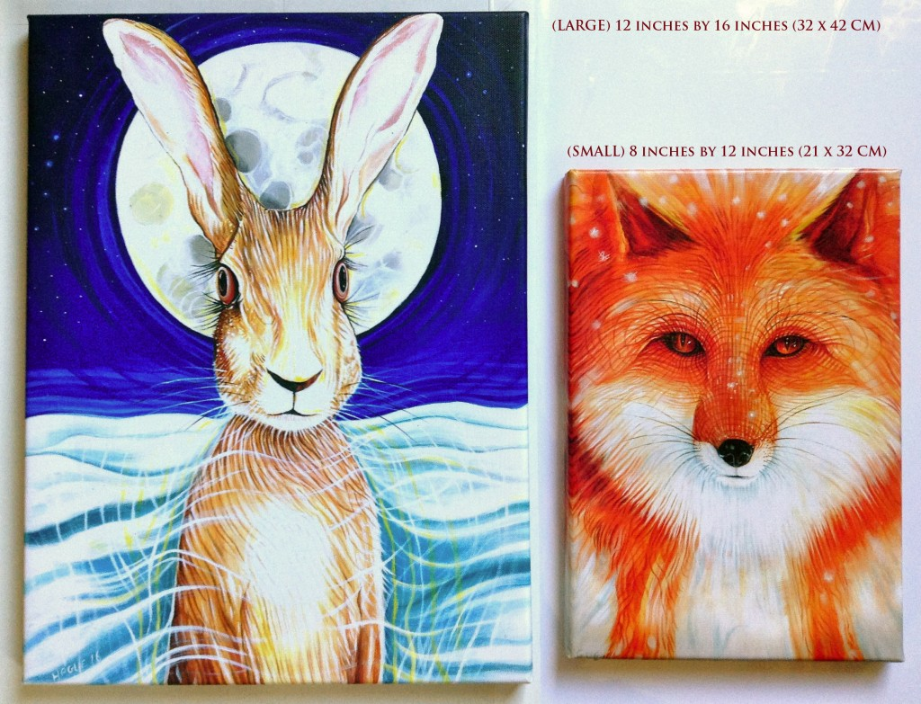 Hare and fox
