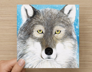 wolf card front