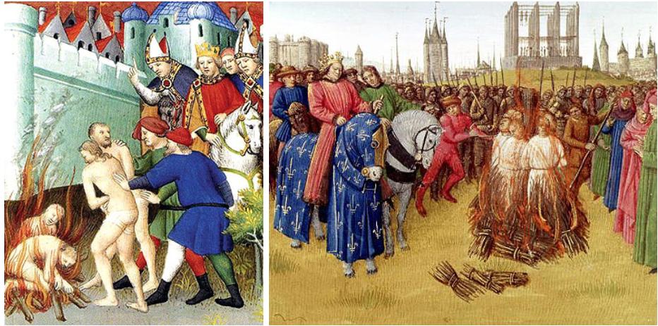 Cathars burned